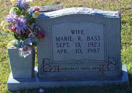 BASS, MARIE R - Marion County, Mississippi | MARIE R BASS - Mississippi Gravestone Photos