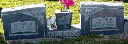 BRELAND, BUFORD J - Marion County, Mississippi | BUFORD J BRELAND - Mississippi Gravestone Photos