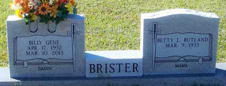 BRISTER, BILLY GENE - Marion County, Mississippi | BILLY GENE BRISTER - Mississippi Gravestone Photos