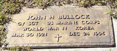 BULLOCK (VETERAN 2WARS), JOHN H - Marion County, Mississippi | JOHN H BULLOCK (VETERAN 2WARS) - Mississippi Gravestone Photos