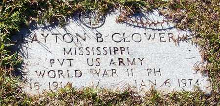 CLOWER (VETERAN WWII), CLAYTON BANKS - Marion County, Mississippi | CLAYTON BANKS CLOWER (VETERAN WWII) - Mississippi Gravestone Photos