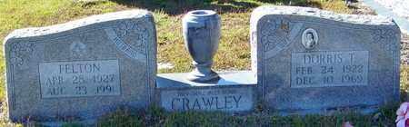 CRAWLEY, DORRIS T - Marion County, Mississippi | DORRIS T CRAWLEY - Mississippi Gravestone Photos