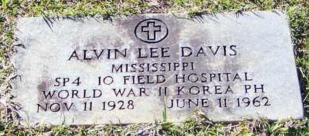 DAVIS (VETERAN 2WARS), ALVIN LEE - Marion County, Mississippi   ALVIN LEE DAVIS (VETERAN 2WARS) - Mississippi Gravestone Photos