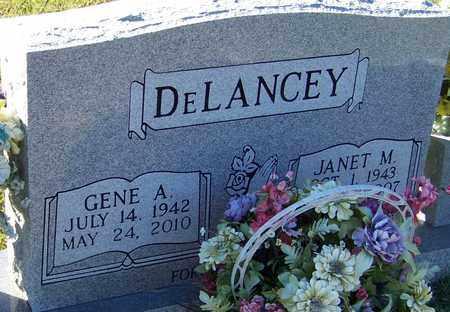 DELANCEY, GENE A - Marion County, Mississippi | GENE A DELANCEY - Mississippi Gravestone Photos