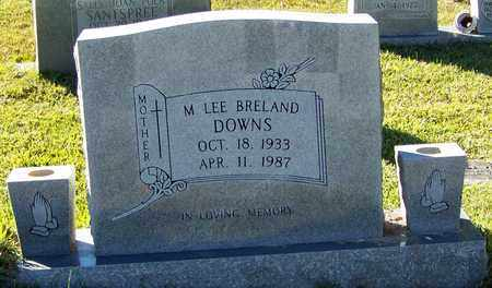 BRELAND DOWNS, M LEE - Marion County, Mississippi | M LEE BRELAND DOWNS - Mississippi Gravestone Photos
