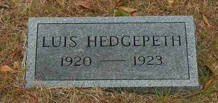HEDGEPETH, LUIS - Marion County, Mississippi | LUIS HEDGEPETH - Mississippi Gravestone Photos