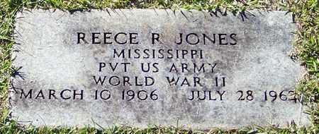 JONES (VETERAN WWII), REECE R - Marion County, Mississippi | REECE R JONES (VETERAN WWII) - Mississippi Gravestone Photos