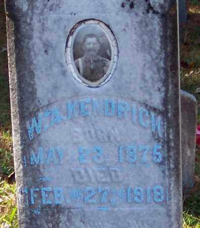 KENDRICK (CLOSE UP), W A - Marion County, Mississippi | W A KENDRICK (CLOSE UP) - Mississippi Gravestone Photos