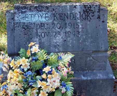 KENDRICK, ETOYE - Marion County, Mississippi | ETOYE KENDRICK - Mississippi Gravestone Photos