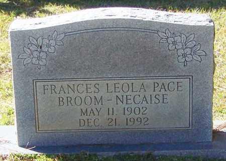 BROOM NECAISE, FRANCES LEOLA PACE - Marion County, Mississippi | FRANCES LEOLA PACE BROOM NECAISE - Mississippi Gravestone Photos