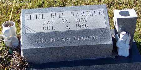 SMITH RAMSHUR, LILLIE BELL - Marion County, Mississippi | LILLIE BELL SMITH RAMSHUR - Mississippi Gravestone Photos