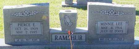 SMITH RAMSHUR, MINNIE LEE - Marion County, Mississippi | MINNIE LEE SMITH RAMSHUR - Mississippi Gravestone Photos