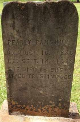 RAMSHUR, PEARLY - Marion County, Mississippi | PEARLY RAMSHUR - Mississippi Gravestone Photos