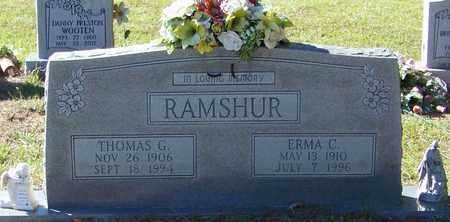 FITZHUGH RAMSHUR, ERMA CHRISTINE - Marion County, Mississippi | ERMA CHRISTINE FITZHUGH RAMSHUR - Mississippi Gravestone Photos