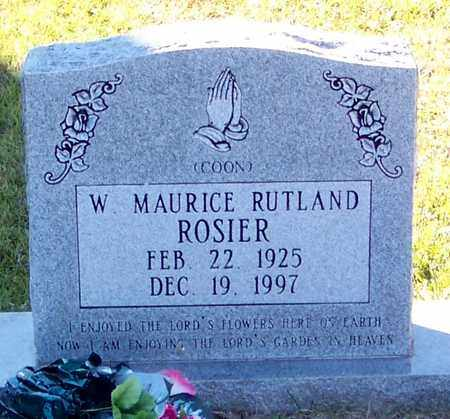 ROSIER, W MAURICE - Marion County, Mississippi | W MAURICE ROSIER - Mississippi Gravestone Photos