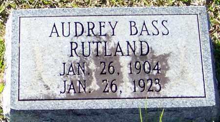 RUTLAND, AUDREY - Marion County, Mississippi | AUDREY RUTLAND - Mississippi Gravestone Photos