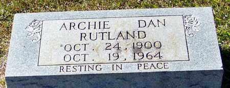 RUTLAND, ARCHIE DAN - Marion County, Mississippi | ARCHIE DAN RUTLAND - Mississippi Gravestone Photos