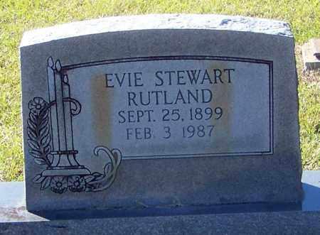STEWART RUTLAND, EVIE - Marion County, Mississippi | EVIE STEWART RUTLAND - Mississippi Gravestone Photos