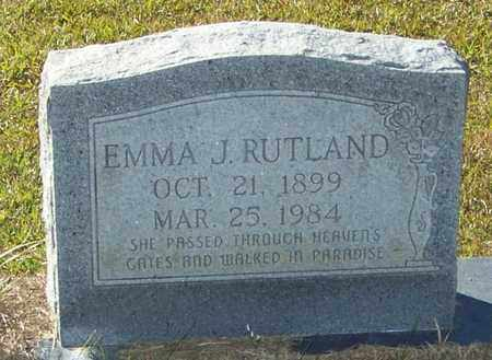 RUTLAND, EMMA J - Marion County, Mississippi | EMMA J RUTLAND - Mississippi Gravestone Photos