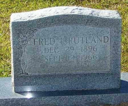 RUTLAND, FRED LEE - Marion County, Mississippi | FRED LEE RUTLAND - Mississippi Gravestone Photos