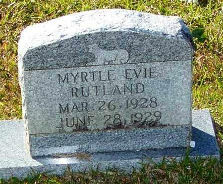 RUTLAND, MYRTLE EVIE - Marion County, Mississippi   MYRTLE EVIE RUTLAND - Mississippi Gravestone Photos