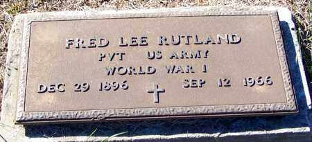 RUTLAND (VETERAN WWI), FRED LEE - Marion County, Mississippi | FRED LEE RUTLAND (VETERAN WWI) - Mississippi Gravestone Photos