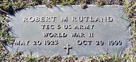 RUTLAND (VETERAN WWII), ROBERT M - Marion County, Mississippi | ROBERT M RUTLAND (VETERAN WWII) - Mississippi Gravestone Photos