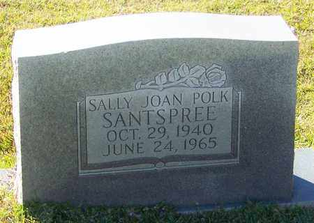 POLK SANTSPREE, SALLY JOAN - Marion County, Mississippi | SALLY JOAN POLK SANTSPREE - Mississippi Gravestone Photos