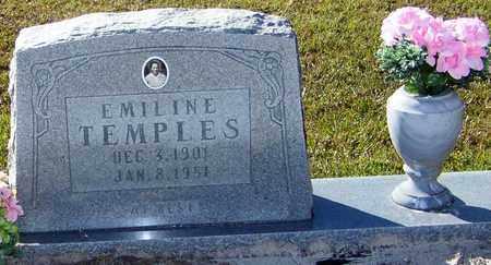 TEMPLES, EMILINE - Marion County, Mississippi | EMILINE TEMPLES - Mississippi Gravestone Photos