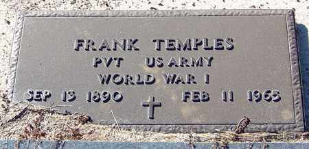 TEMPLES (VETERAN WWI), FRANK - Marion County, Mississippi | FRANK TEMPLES (VETERAN WWI) - Mississippi Gravestone Photos