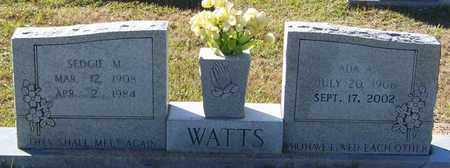 WATTS, ADA A - Marion County, Mississippi | ADA A WATTS - Mississippi Gravestone Photos