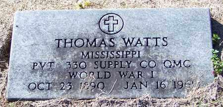 WATTS (VETERAN WWI), THOMAS - Marion County, Mississippi | THOMAS WATTS (VETERAN WWI) - Mississippi Gravestone Photos
