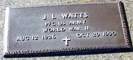 WATTS (VETERAN WWII), JAMES L - Marion County, Mississippi | JAMES L WATTS (VETERAN WWII) - Mississippi Gravestone Photos