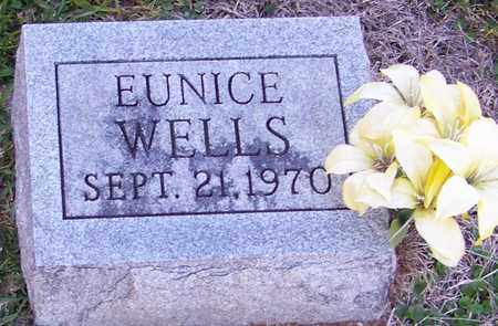 WELLS, EUNICE - Marion County, Mississippi | EUNICE WELLS - Mississippi Gravestone Photos