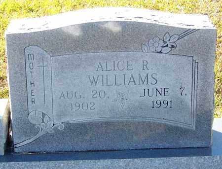 WILLIAMS, ALICE R (CLOSE UP) - Marion County, Mississippi   ALICE R (CLOSE UP) WILLIAMS - Mississippi Gravestone Photos