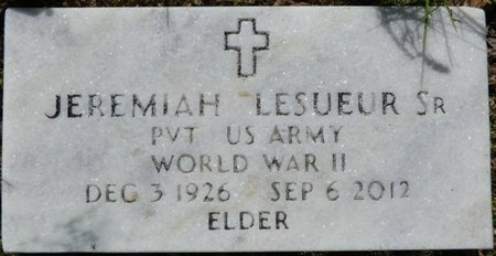 LESUEUR, SR (VETERAN WWII), JEREMIAH - Marshall County, Mississippi   JEREMIAH LESUEUR, SR (VETERAN WWII) - Mississippi Gravestone Photos