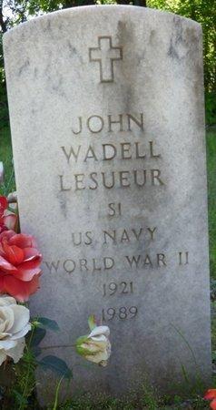 LESUEUR (VETERAN WWII), JOHN WADELL - Marshall County, Mississippi | JOHN WADELL LESUEUR (VETERAN WWII) - Mississippi Gravestone Photos