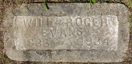 EVANS, WILL ROGER - Panola County, Mississippi | WILL ROGER EVANS - Mississippi Gravestone Photos