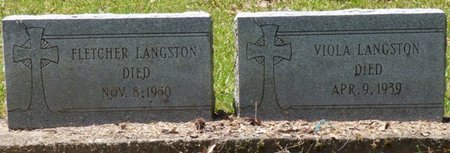 LANGSTON, FLETCHER - Panola County, Mississippi | FLETCHER LANGSTON - Mississippi Gravestone Photos