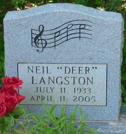"LANGSTON, NEIL ""DEER"" - Panola County, Mississippi | NEIL ""DEER"" LANGSTON - Mississippi Gravestone Photos"