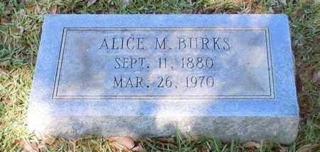BURKS, ALICE VIRGINIA - Pearl River County, Mississippi   ALICE VIRGINIA BURKS - Mississippi Gravestone Photos