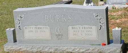 BURKS, BILLY FRANK - Pearl River County, Mississippi   BILLY FRANK BURKS - Mississippi Gravestone Photos