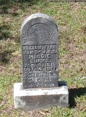 BURKS, WILLIAM FARR - Pearl River County, Mississippi | WILLIAM FARR BURKS - Mississippi Gravestone Photos
