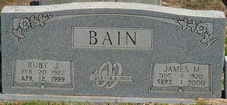 BAIN, JAMES M - Prentiss County, Mississippi | JAMES M BAIN - Mississippi Gravestone Photos