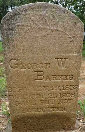 BARNES, GEORGE W - Prentiss County, Mississippi | GEORGE W BARNES - Mississippi Gravestone Photos