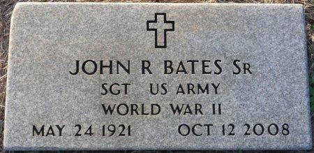 BATES, SR (VETERAN WWII), JOHN RUSSELL (NEW) - Prentiss County, Mississippi | JOHN RUSSELL (NEW) BATES, SR (VETERAN WWII) - Mississippi Gravestone Photos