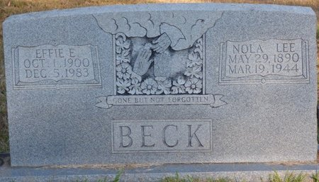 BECK, EFFIE E - Prentiss County, Mississippi | EFFIE E BECK - Mississippi Gravestone Photos