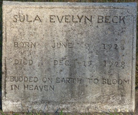 BECK, SULA EVELYN - Prentiss County, Mississippi | SULA EVELYN BECK - Mississippi Gravestone Photos