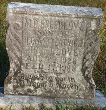 BREEDLOVE, M.D. - Prentiss County, Mississippi | M.D. BREEDLOVE - Mississippi Gravestone Photos