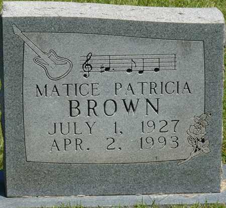 BROWN, MATICE PATRICIA - Prentiss County, Mississippi | MATICE PATRICIA BROWN - Mississippi Gravestone Photos